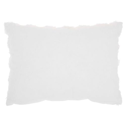 "Life Styles L0163 White 14"" X 20"" Throw Pillow"