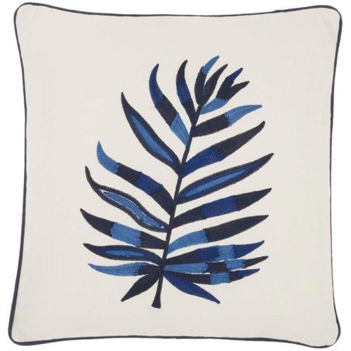 "Royal Palm Ns274 Indigo 16"" X 16"" Throw Pillow"