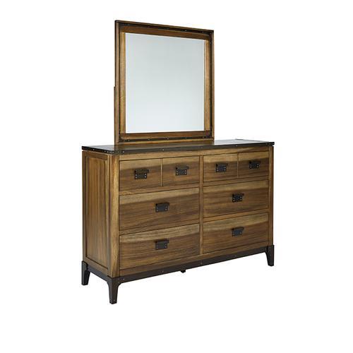 Dresser \u0026 Mirror - Sepia/Sienna \u0026 Metal Finish