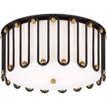 AERIN Molene 4 Light 18 inch Aged Iron and Gild Flush Mount Ceiling Light, Large