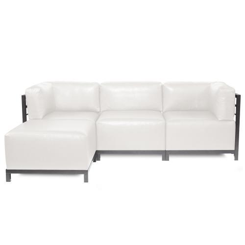 Axis Corner Chair Avanti White Titanium Frame