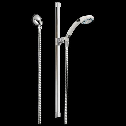 White Fundamentals 2-Setting Glide Rail Hand Shower