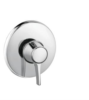 Chrome Pressure Balance Trim, Round Product Image