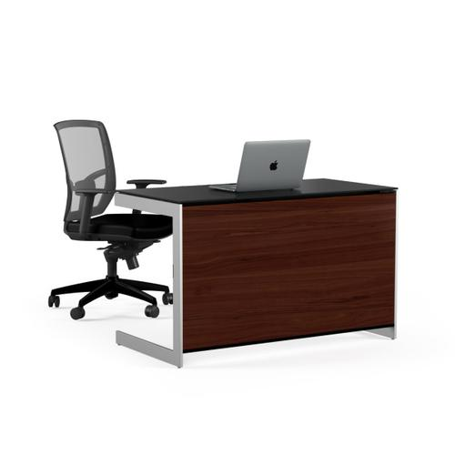 Compact Desk Back Panel 6008 in Chocolate Stained Walnut