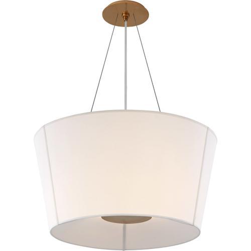 Visual Comfort - Barbara Barry Hoop 2 Light 26 inch Soft Brass Hanging Shade Ceiling Light, Medium Inverted