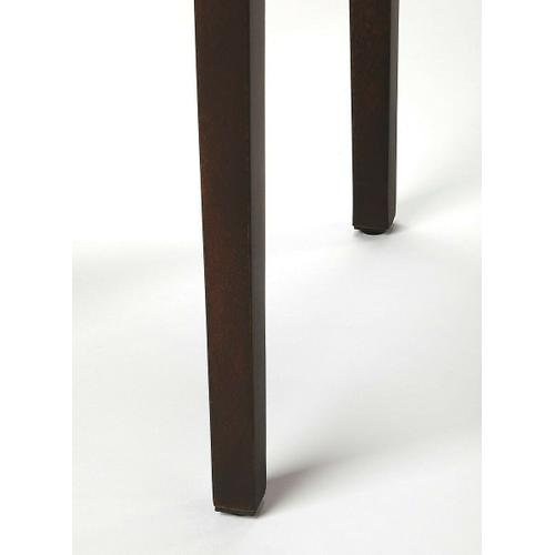 Butler Specialty Company - The scatter table has a dark wood butcher block top and tapered, square legs with intricate grain of solid acacia wood. Its simple structure and design make it nothing less than classic and functional. Perfect in absolutely any space, this table will go great next to any couch or chair.
