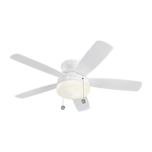 """52"""" Traverse Semi-Flush Fan - White"""