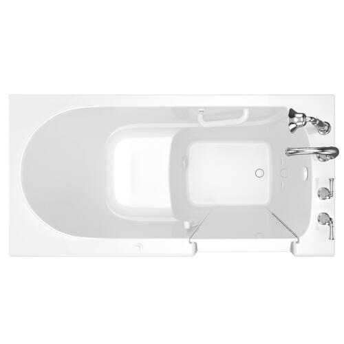 Gelcoat Value Series 30 x 60 Inch Walk in Tub with Air Spa System  Right Drain  American Standard - White