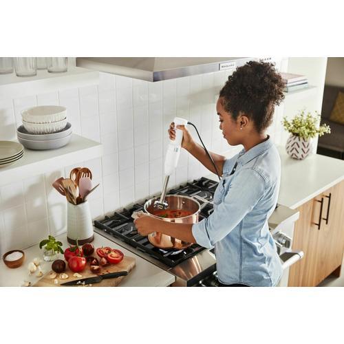 KitchenAid - Variable Speed Corded Hand Blender - White