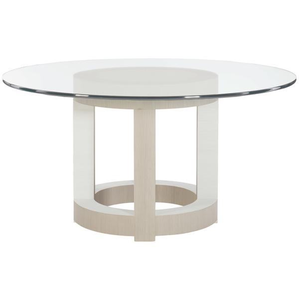 "Axiom Round Dining Table (54"") in Linear Gray (381), Linear White (381)"