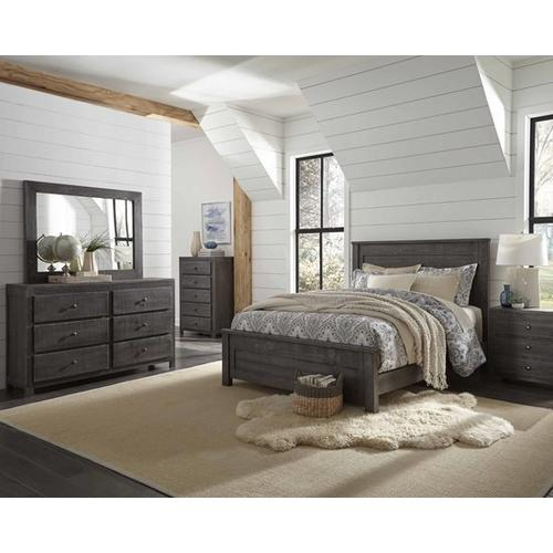 6/6 King Panel Bed - Charcoal Finish