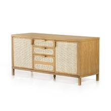 See Details - Allegra Filing Credenza-honey Oak
