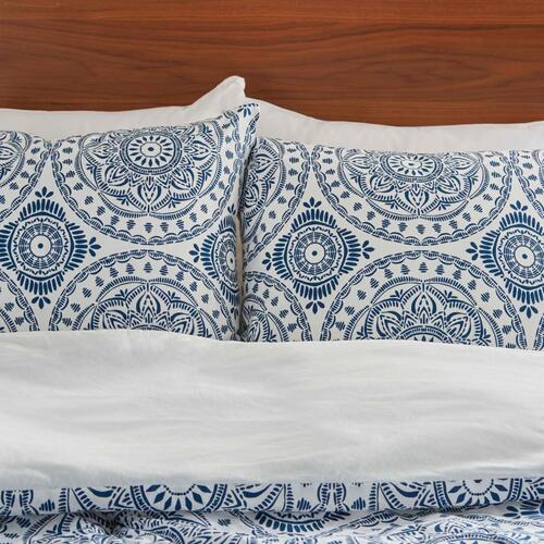 Nourison Rugs - Dreamscape Dsc03 Navy Full/queen 3-piece Bed Set
