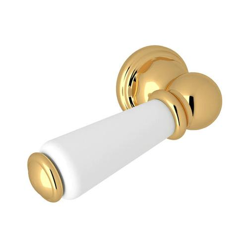 Tank Lever Trip Arm - English Gold with Metal Lever Handle