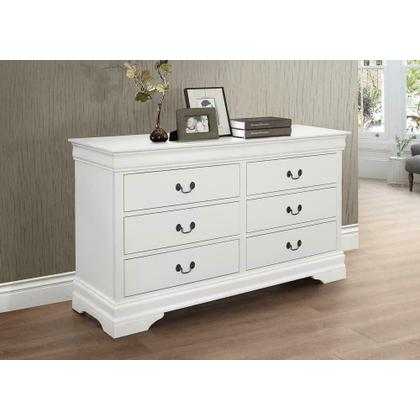 See Details - Louis Philippe White Six-drawer Dresser