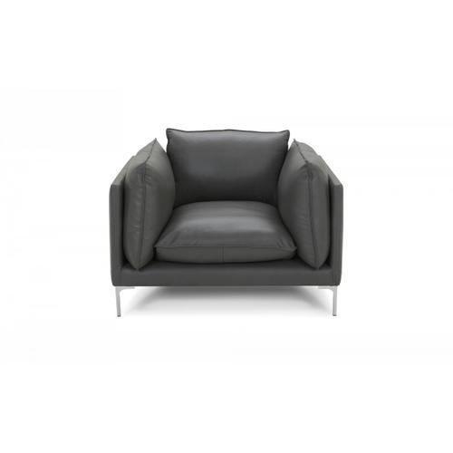 VIG Furniture - Divani Casa Harvest - Modern Grey Full Leather Chair
