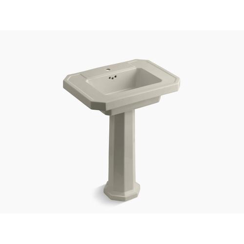 Sandbar Pedestal Bathroom Sink With Single Faucet Hole