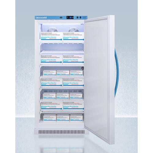 Performance Series Pharma-vac 8 CU.FT. Upright All-refrigerator for Vaccine Storage With an Antimicrobial Silver-ion Handle and Hospital Grade Cord With 'green Dot' Plug