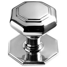 "Bronze Finish Octagonal centre door knob, 4"" diameter"