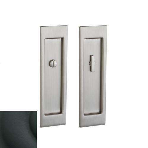 Baldwin - Satin Black PD005 Large Santa Monica Pocket Door