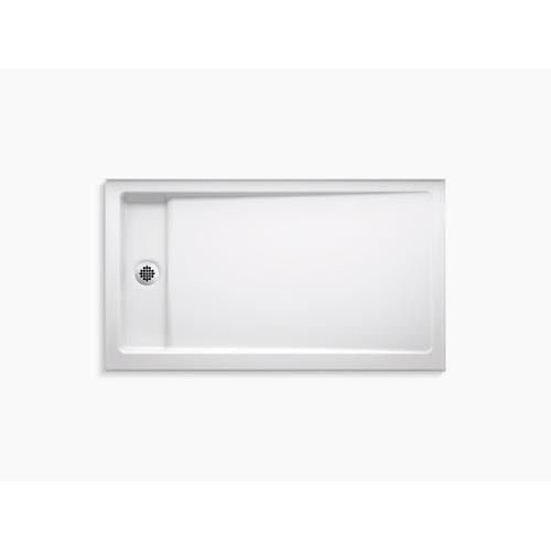 """Kohler - White 60"""" X 34"""" Single-threshold Shower Base With Left Center Drain"""