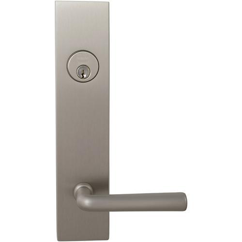 Exterior Modern Deadbolt Entrance Lever Lockset in (US15 Satin Nickel Plated, Lacquered)
