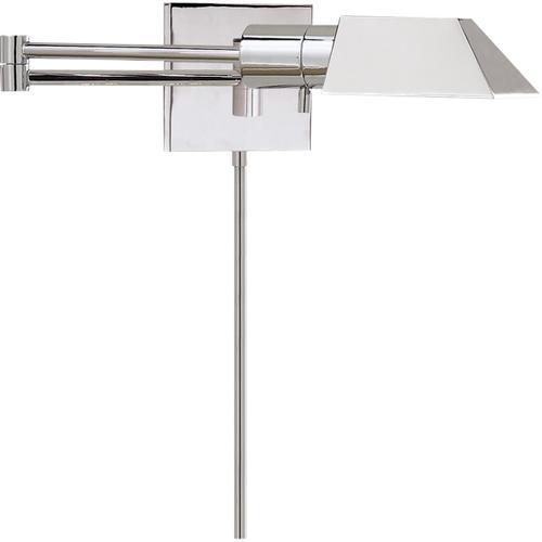 - Studio 24 inch 40.00 watt Polished Nickel Swing-Arm Wall Light