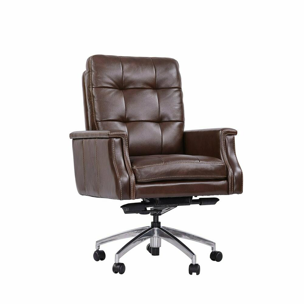 DC#128-CHESTNUT - DESK CHAIR Leather Desk Chair