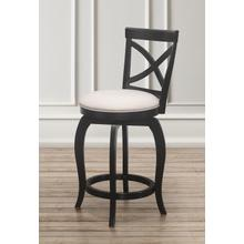 Ellendale Wood Swivel Bar Height Stool, Black