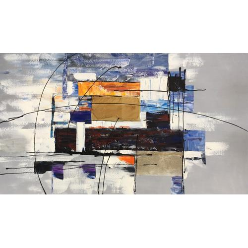 """Gallery - 32"""" x 56"""" Abstract Oil Painting Model No.6282"""