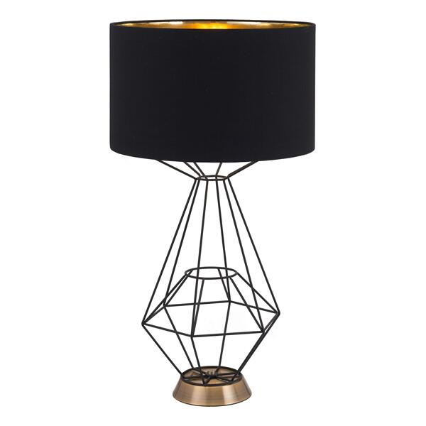 See Details - Delancey Table Lamp Black
