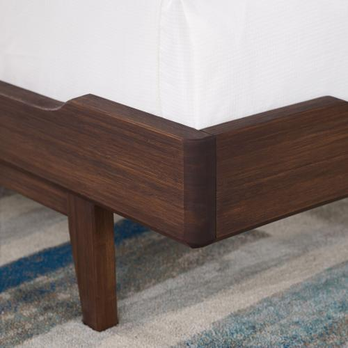 Currant California King Platform Bed, Oiled Walnut
