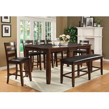 "Arianna Brown Counter Height Pub Table with 18"" Leaf"