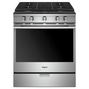 Whirlpool5.8 cu. ft. Smart Slide-in Gas Range with EZ-2-Lift™ Hinged Cast-Iron Grates