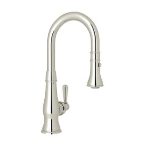 Patrizia Pulldown Bar and Food Prep Faucet - Polished Nickel with Metal Lever Handle