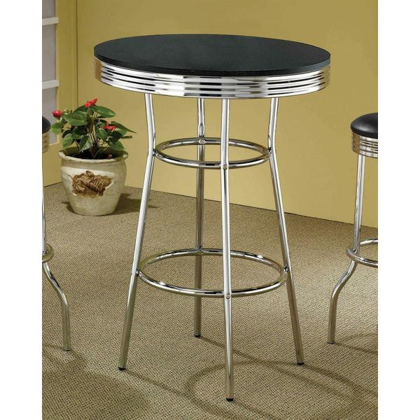 See Details - Contemporary Black Bar-height Table