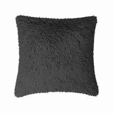 Fun Fur Long Hair Cushion - Dark Grey