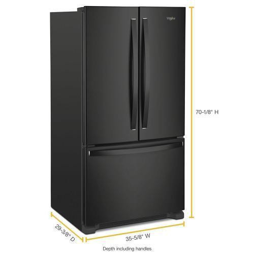 Whirlpool - 36-inch Wide Counter Depth French Door Refrigerator - 20 cu. ft.