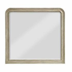 ACME Wynsor II Mirror - 27734 - Transitional - Mirror, Wood (Pine/Poplar), Wood Veneer (Oak), MDF,PB - White-Washed