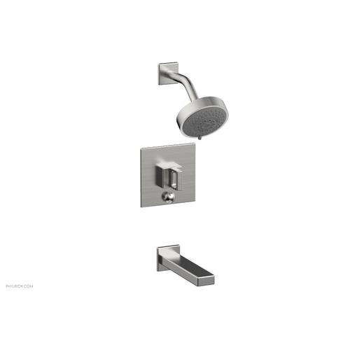 MIX Pressure Balance Tub and Shower Set - Ring Handle 290-28 - Satin Chrome