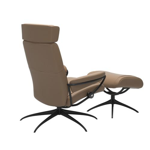 Stressless By Ekornes - Stressless® Paris chair with adjustable headrest, with footstool
