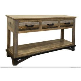 Sofa Table w/ 2 Drawers & 2 Doors