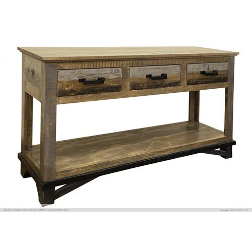 Sofa Table w/ 2 Drawers & 2 Doors