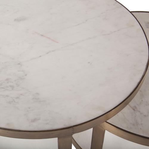 Michaelangelo White Marble Nesting Coffee Table