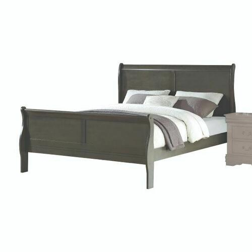 ACME Louis Philippe Eastern King Bed - 26787EK - Dark Gray