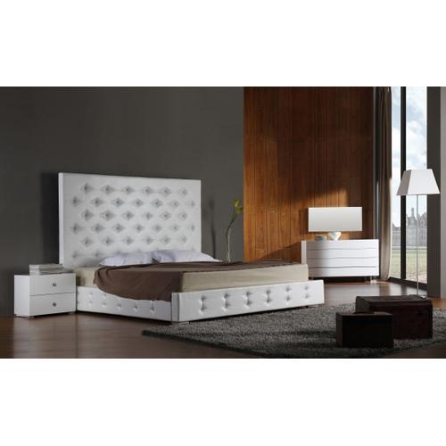 VIG Furniture - Modrest Elbrus - White Modern Leather Platform Bed