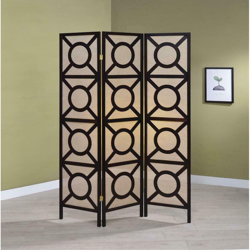 View Product - Transitional Cappuccino Folding Screen