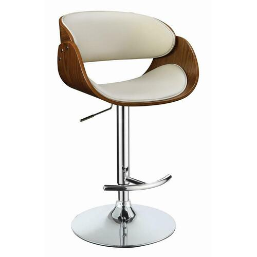 Modern Ecru Adjustable Bar Stool