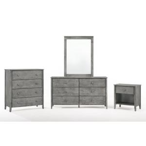 Night and Day Furniture - Zest Cases in Rustic Gray Finish