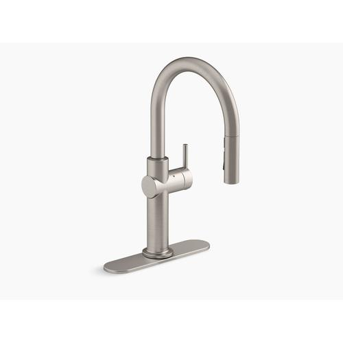 Vibrant Stainless Touchless Pull-down Single-handle Kitchen Faucet